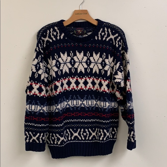 american portrait Other - Vintage Cotton Chunky Sweater Size M
